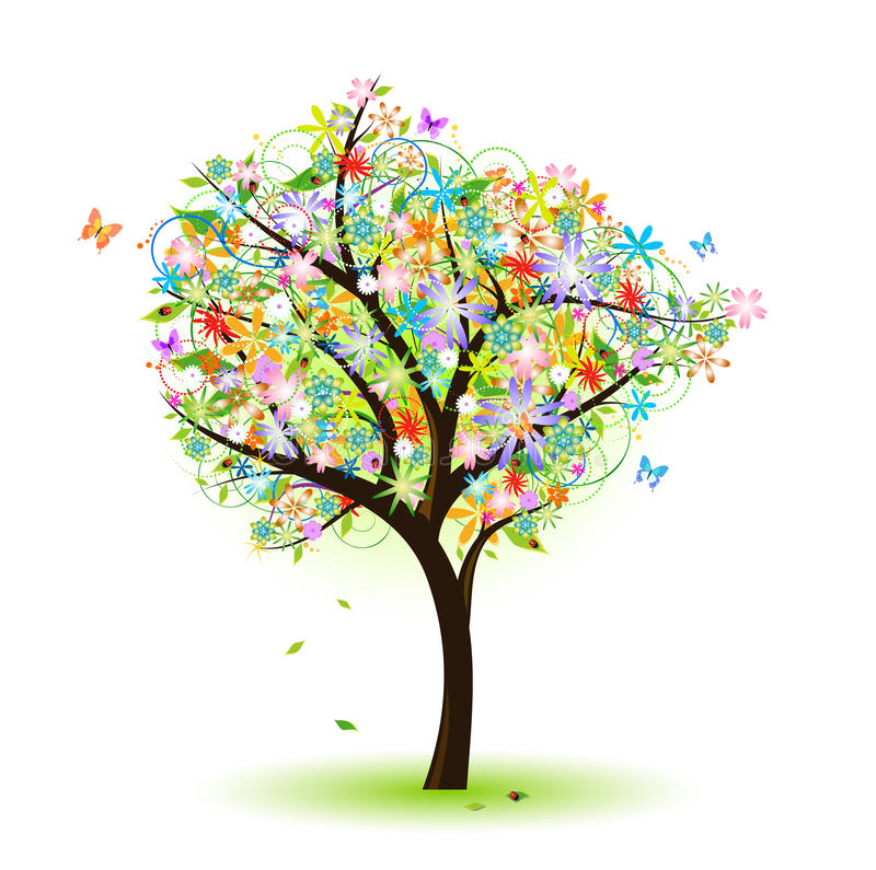 Download Colorful Tree Royalty Free Stock Photography - Image: 18818817