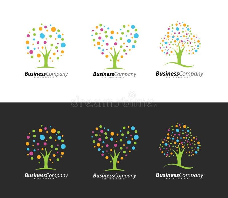 Colorful Tree Logo royalty free illustration