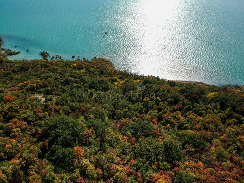 Colorful trees at lake Balaton, Hungary at autumn. Colorful trees at lake Balaton, Hungary stock photography