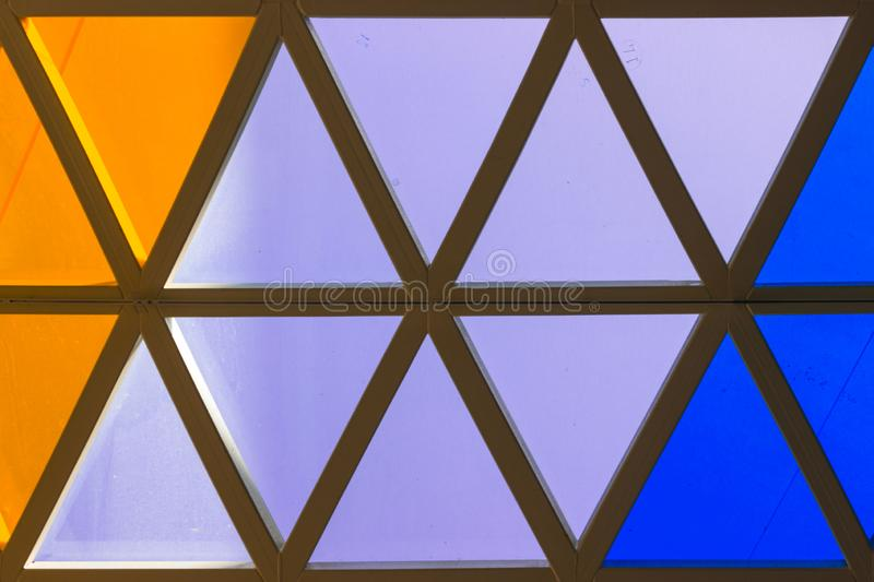 Colorful Triangle Background, Orange and Blue Triangles.  stock images