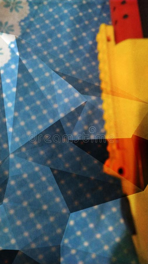 Colorful triangle effect background. Design royalty free stock image