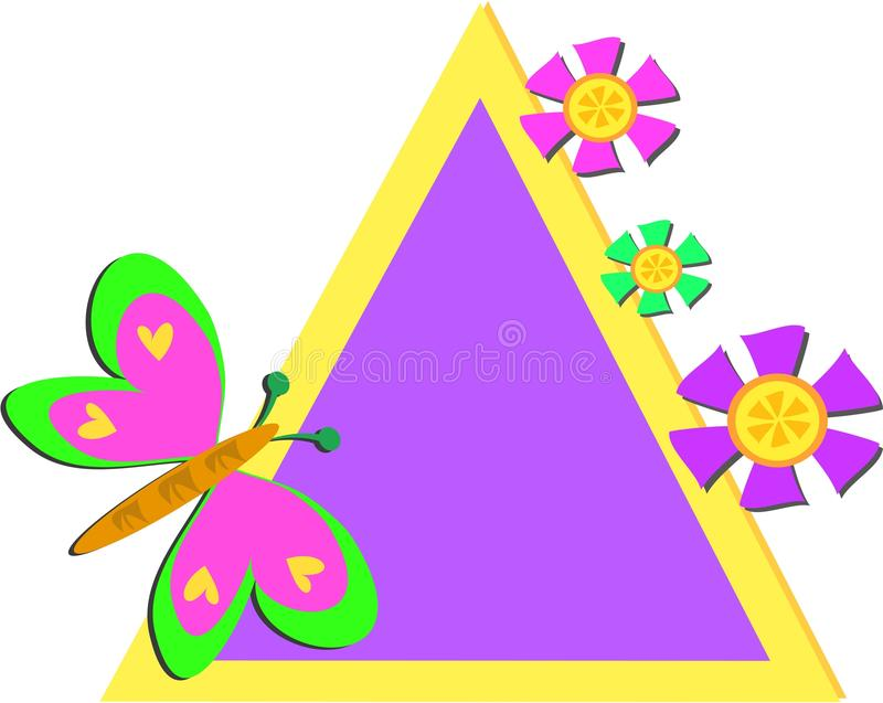 Download Colorful Triangle Frame With Butterfly And Flowers Royalty Free Stock Photos - Image: 18728828