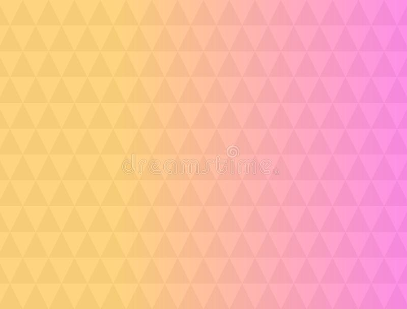 Colorful triangle pattern abstract background with gradient, soft focus background use for desktop wallpaper or website design, stock illustration
