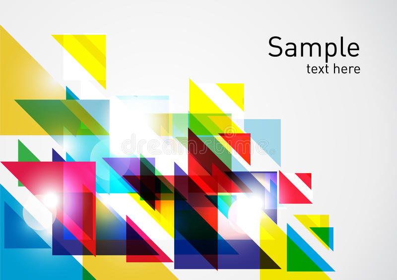 Colorful triangles abstract background stock illustration
