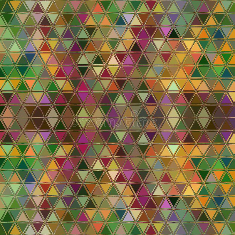 Polygonal colorful continuous pattern of peacock feather colors royalty free illustration