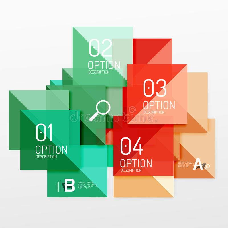 Colorful triangles and squares royalty free illustration