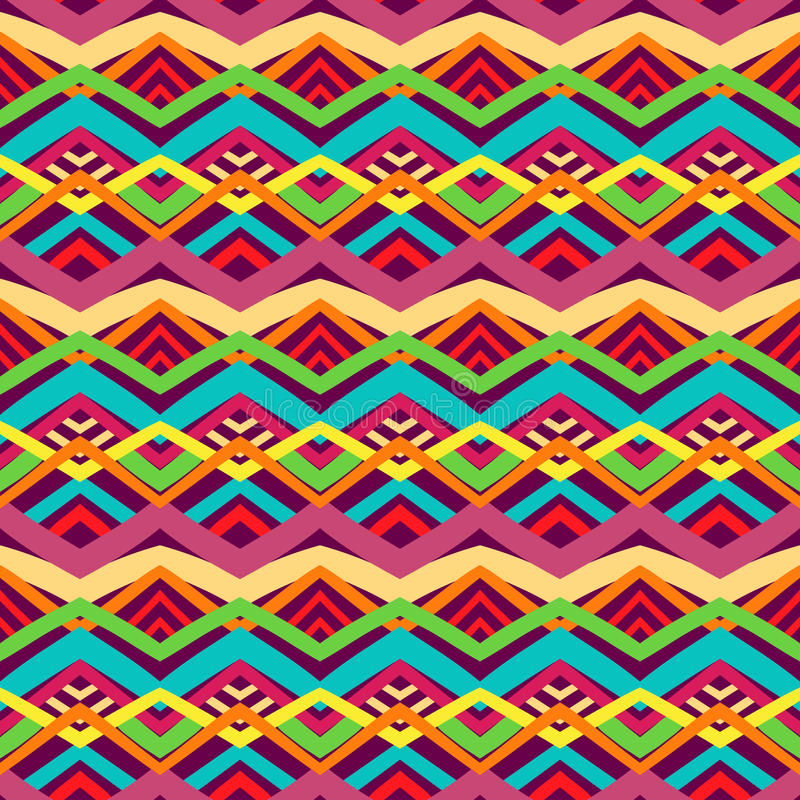 Colorful tribal pattern royalty free illustration