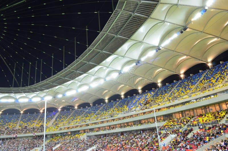 Colorful tribunes on National Arena stadium royalty free stock image