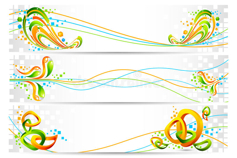 Download Colorful Tricolor Banner stock vector. Image of composition - 22654617