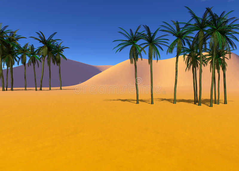 Colorful tropical landscape stock illustration