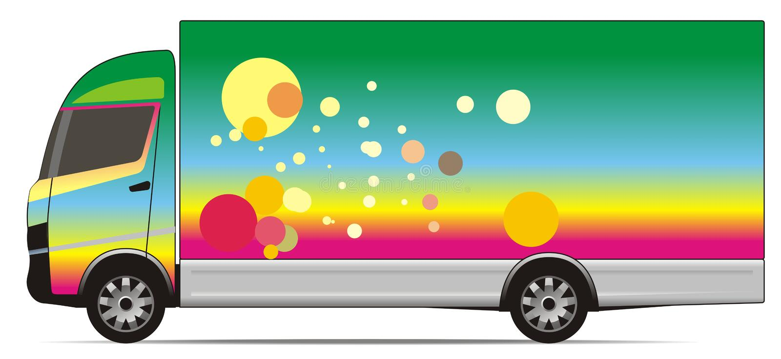 Download Colorful truck stock illustration. Image of dots, color - 8274649