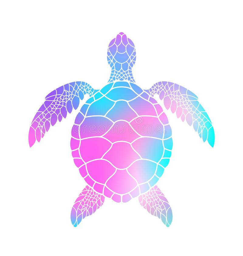Colorful turtle. Vector illustration vector illustration