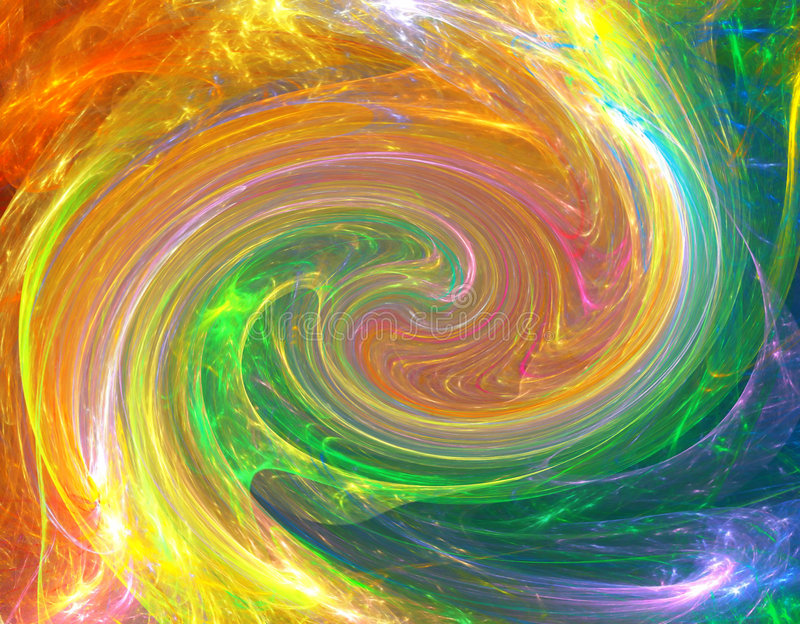 Download Colorful twirl stock illustration. Image of blow, fractal - 3966675