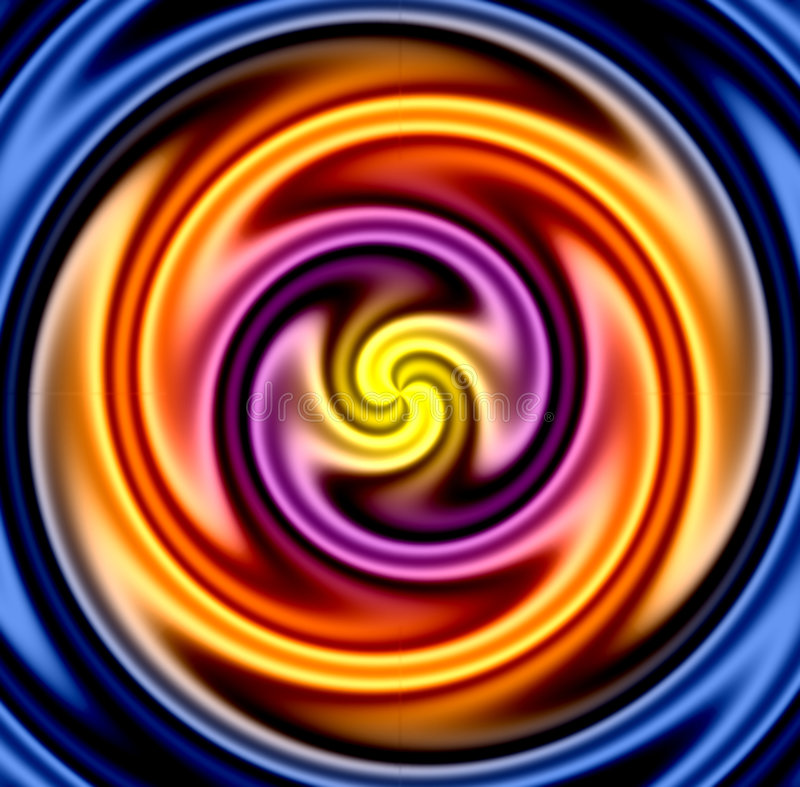 Colorful Twirl. Very liquid looking. Makes a great background stock illustration