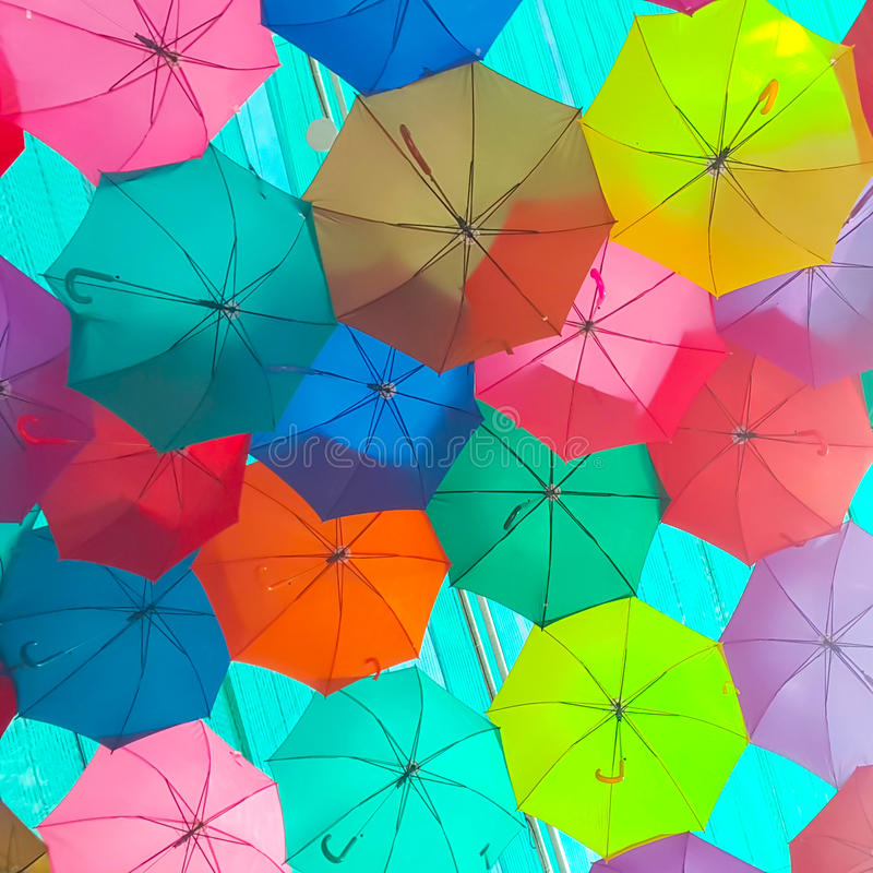 Free Colorful Umbrella. Royalty Free Stock Image - 93532136