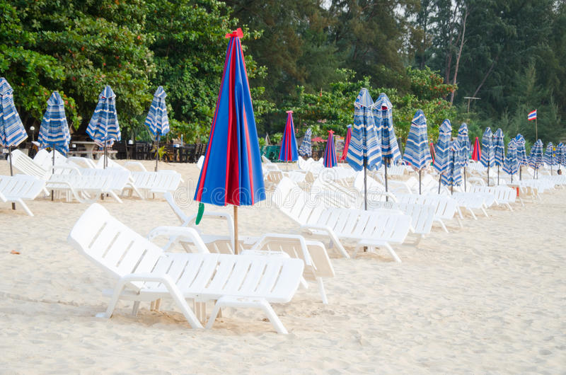 Download Colorful Umbrella And Chair On The Beach In Summer At Phuket Tha Stock Image - Image: 29963943