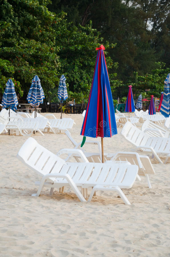 Download Colorful Umbrella And Chair On The Beach In Summer At Phuket Tha Stock Photo - Image: 29963954