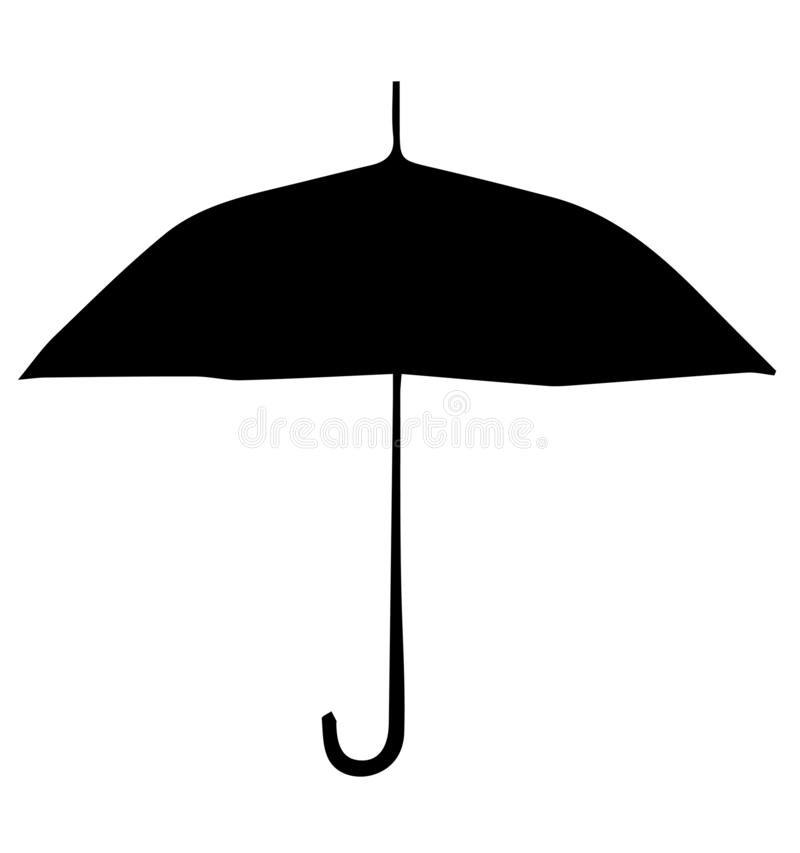 Colorful umbrella vector. Umbrellas and parasols are primarily hand-held portable devices sized for personal use. The largest hand-portable umbrellas are golf stock illustration