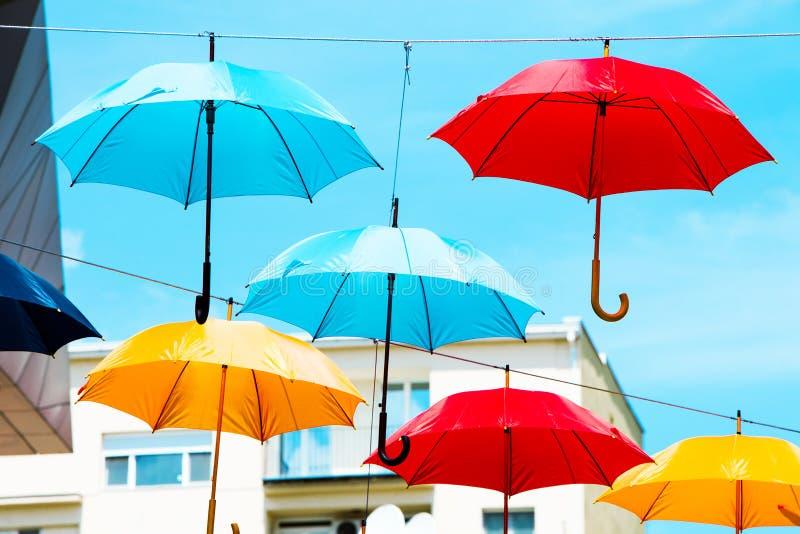 Download Colorful umbrellas stock photo. Image of belgrade, background - 32611920