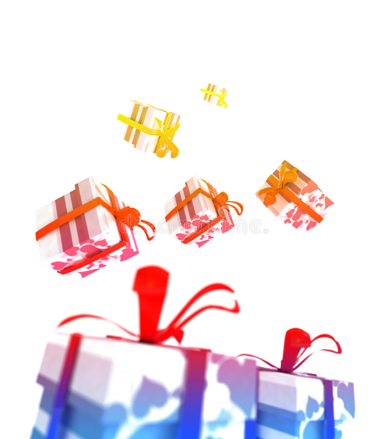 Download Colorful Valentine Packages Stock Illustration - Illustration of anniversary, colourful: 12303716