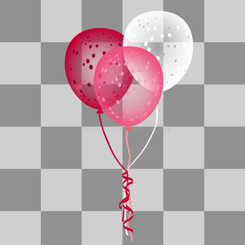 Colorful vector balloons on a transparent backgound. royalty free illustration