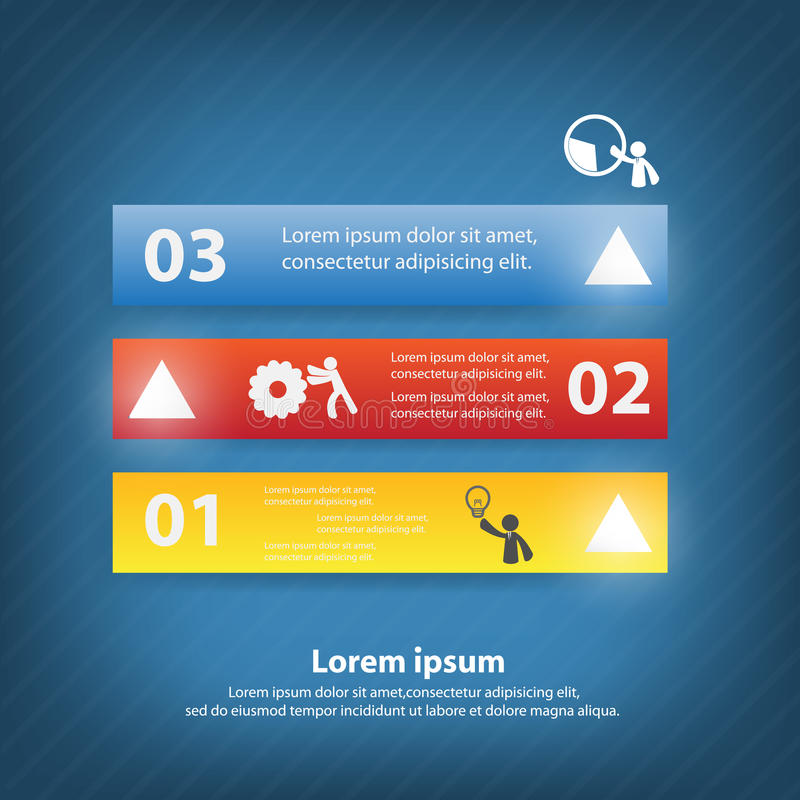 Colorful vector design. For workflow layout, diagram, number options, web design, presentation template, infographics royalty free illustration