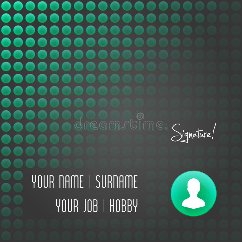 Business Card Design Template. Vector Elements. Personal Vcard ...