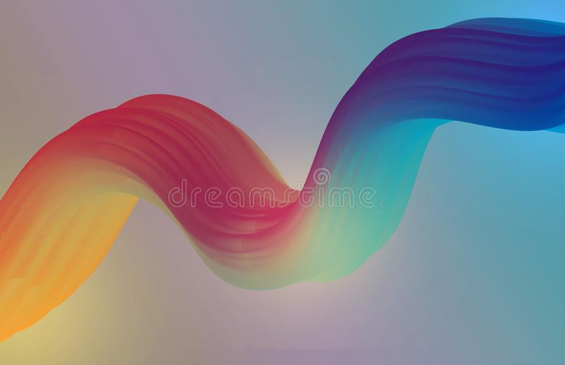 Colorful_Vector_Fluid_Illustration_01 fotografia stock