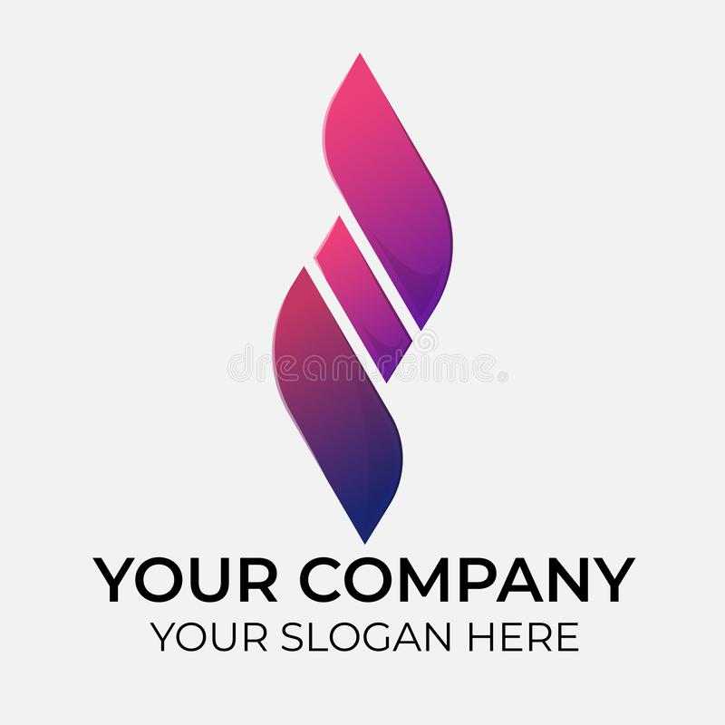 Colorful vector logo design vector illustration