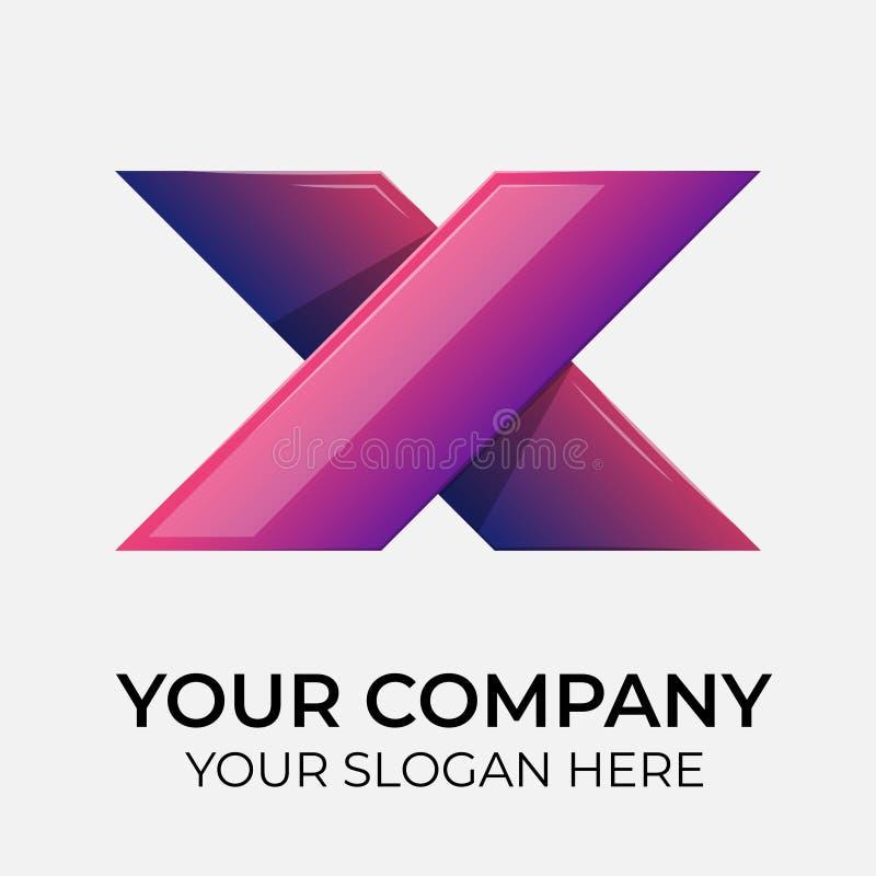 Colorful vector logo design stock illustration
