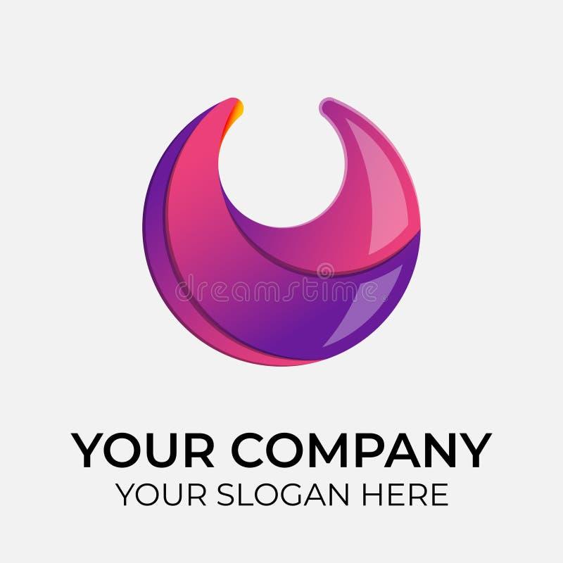 Colorful vector logo design royalty free illustration