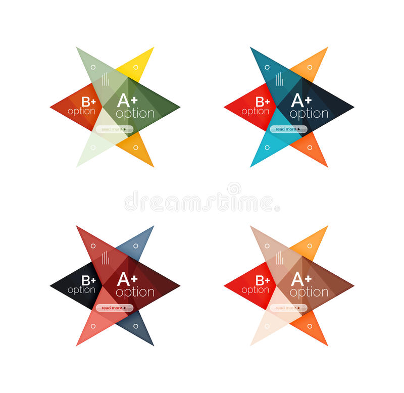 Colorful vector option banner arrow templates, infographic layouts vector illustration
