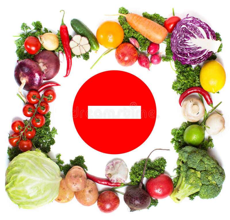 Colorful vegetable frame, healthy food concept. stock photo