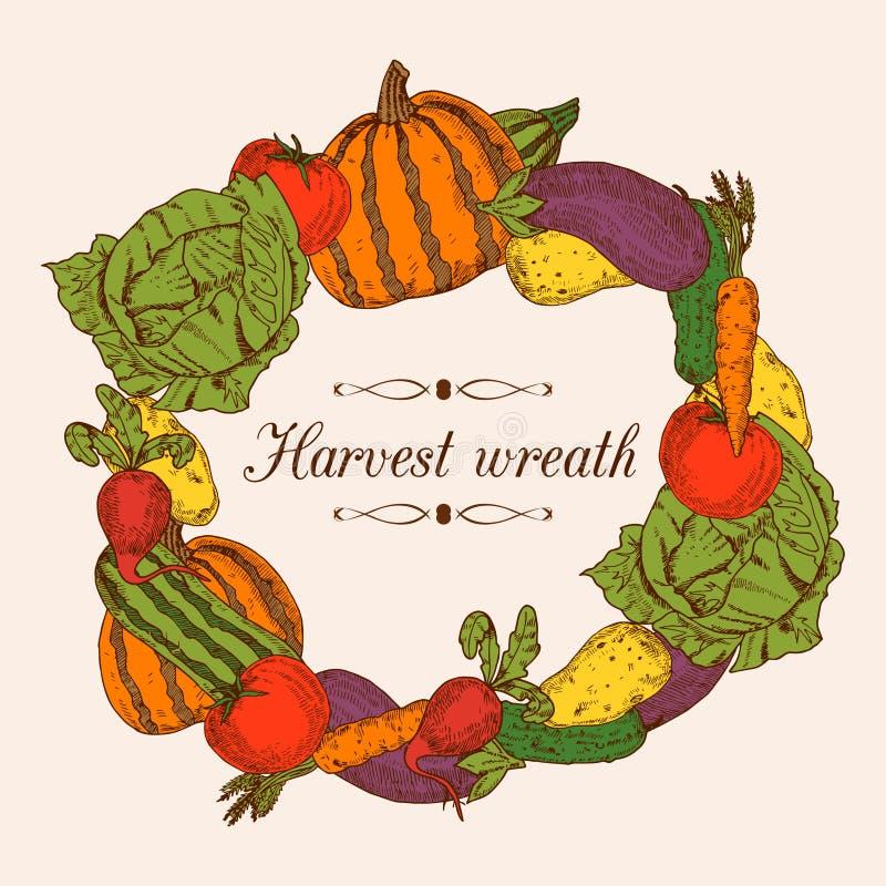 Colorful Vegetables Frame royalty free illustration