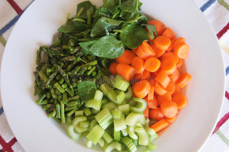 Colorful Veggie Plate royalty free stock photography