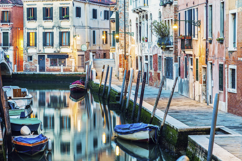 Colorful Venice at dawn royalty free stock photo
