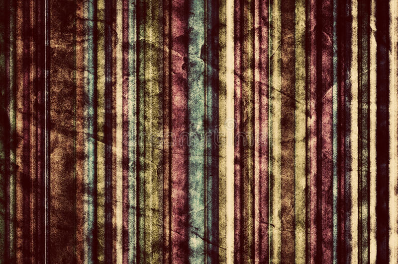 Colorful vertical stripes background in vintage, retro style. stock illustration