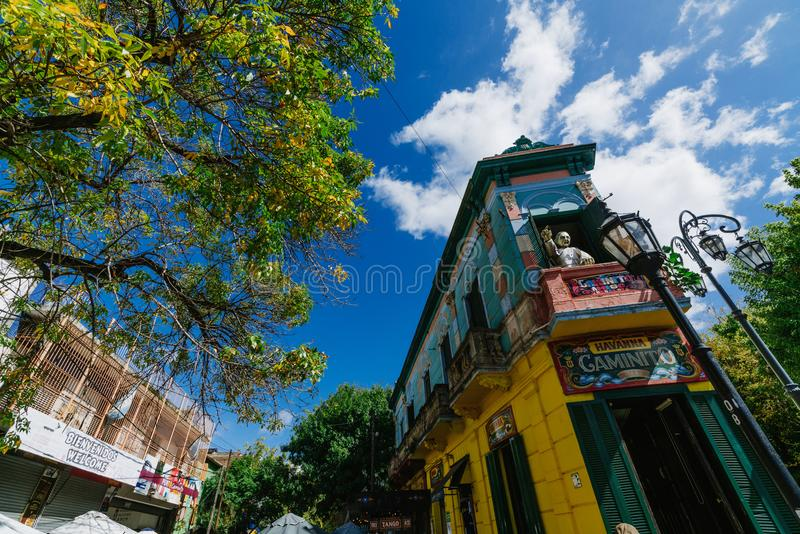 The colorful and vibrant area of La Boca, it`s Caminito in Buenos Aires. The colorful and vibrant area of La Boca, it`s Caminito in Buenos Aires royalty free stock photos