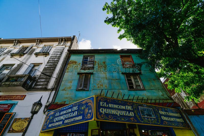 The colorful and vibrant area of La Boca, it`s Caminito in Buenos Aires. The colorful and vibrant area of La Boca, it`s Caminito in Buenos Aires royalty free stock images