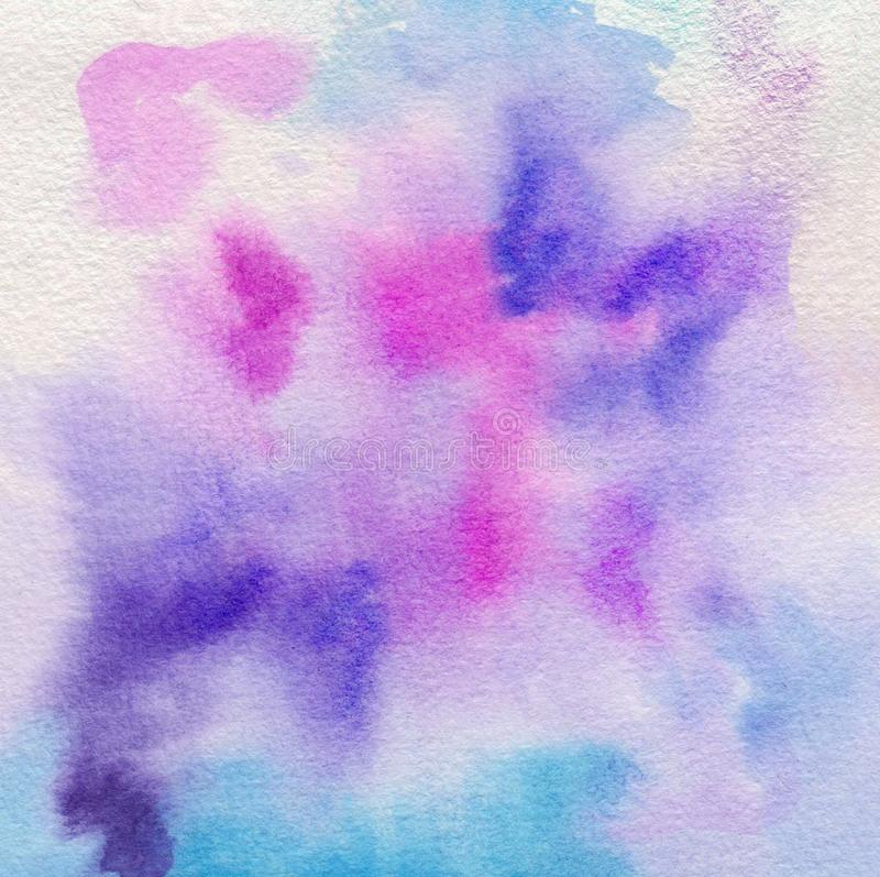 Colorful vibrant textured background. Abstract hand painted watercolor texture. Decorative chaotic texture for design. Handmade stock image
