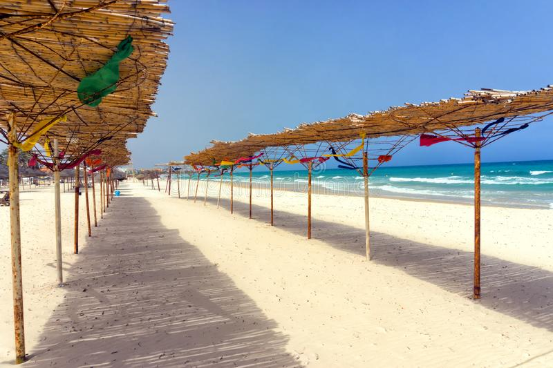 Colorful View of Sousse Beach, Tunisia stock photography
