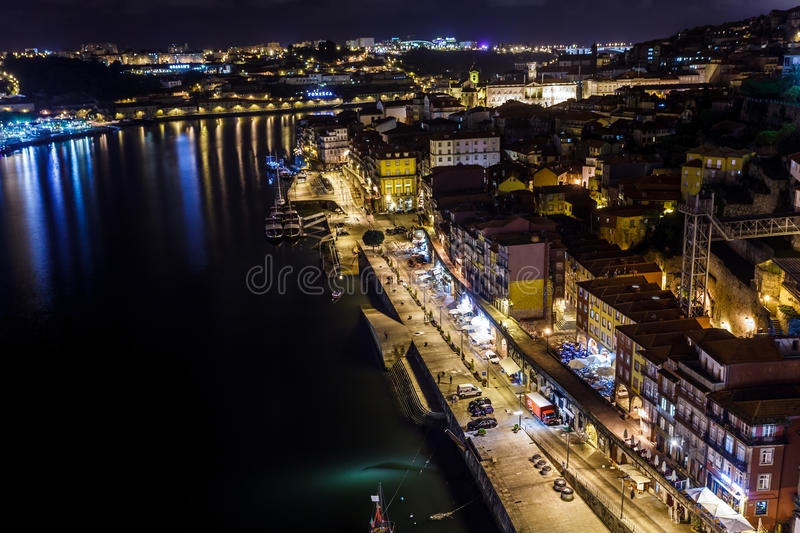 Download Colorful View At Twilight Of The Riverfront With Lights Reflecting In The Douro River Editorial Stock Image - Image: 28203809