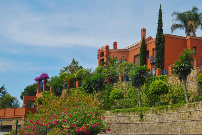 Download Colorful villa stock photo. Image of outside, villa, seasonal - 25263410