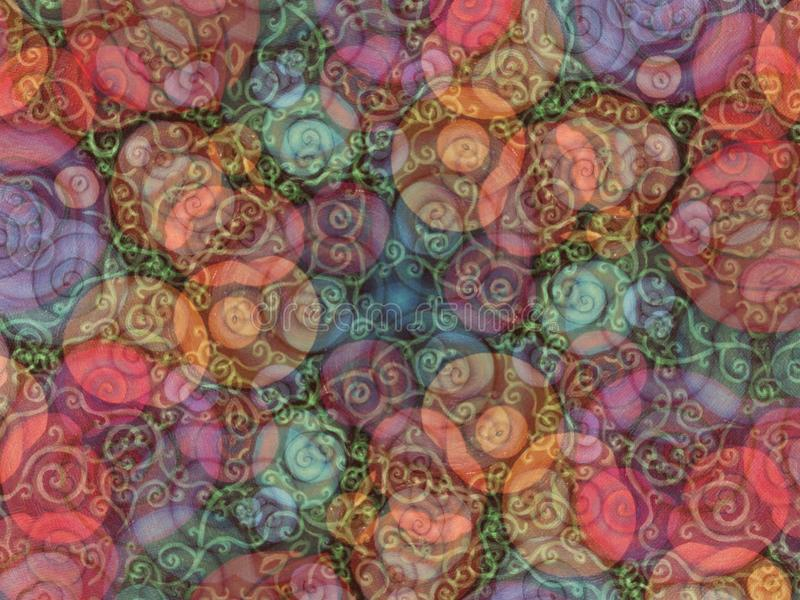Colorful Vines Texture Pattern stock images