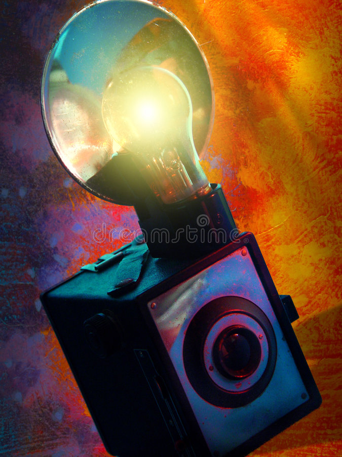 Colorful Vintage Camera royalty free stock image