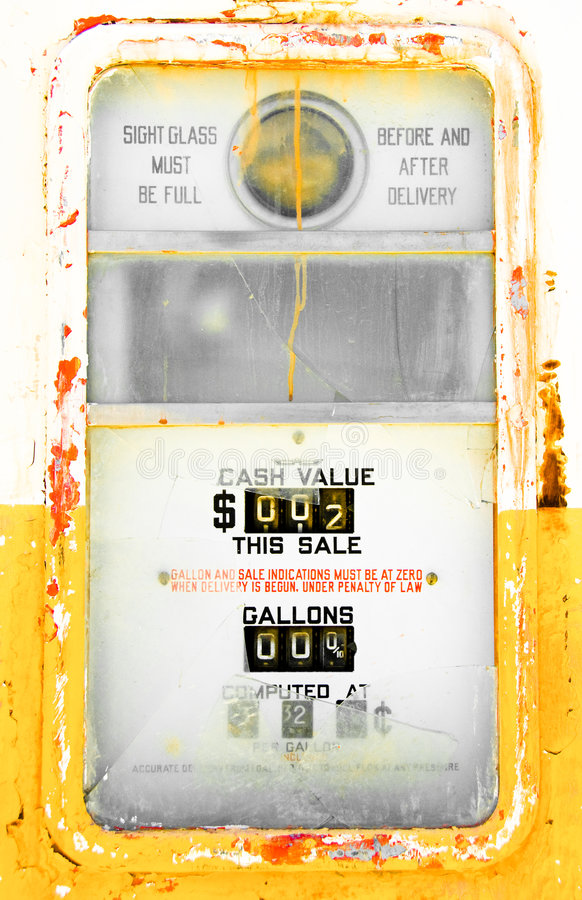 Colorful Vintage Gas Pump Royalty Free Stock Photography