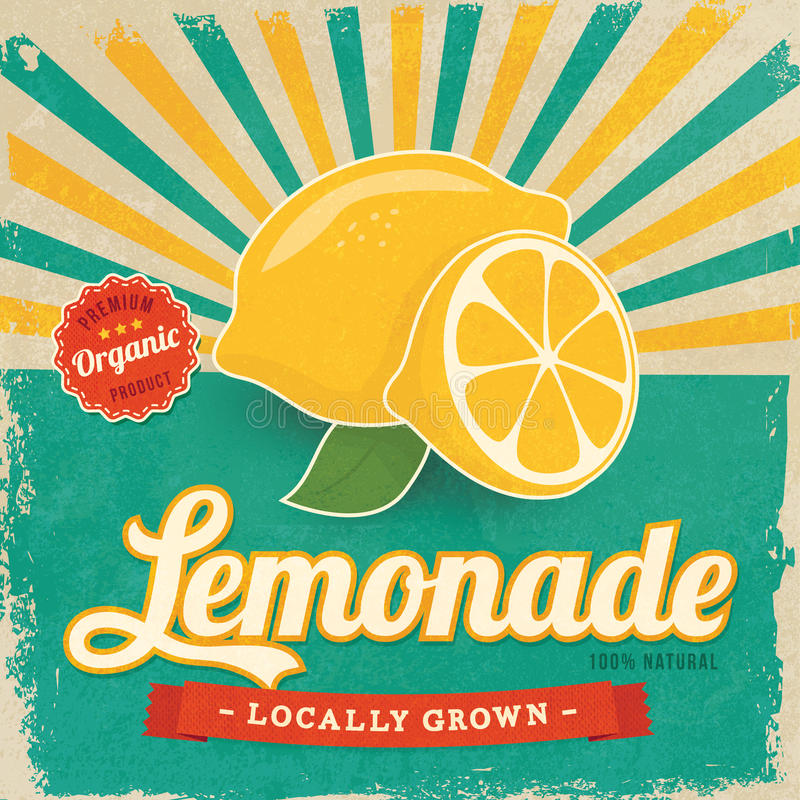 Free Colorful Vintage Lemonade Label Royalty Free Stock Image - 39698606