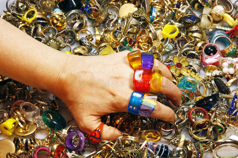 Colorful Vintage Rings Stock Image