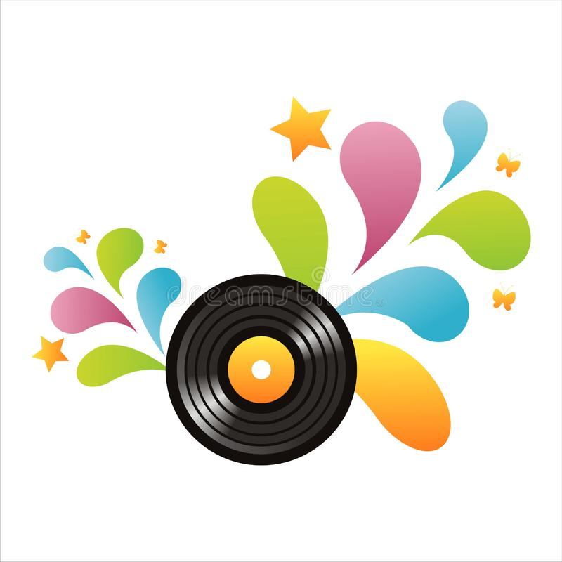 Download Colorful Vinyl Record Background Stock Vector - Illustration of stylish, disco: 14065917