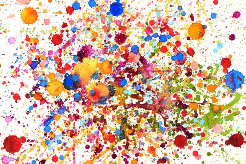 Colorful vivid water color splash stock photos